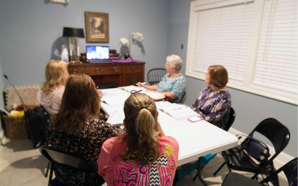 Adult Women's Group meets on Sunday mornings at Luke 10:27 in Denham Springs to share their stories and connection to God.