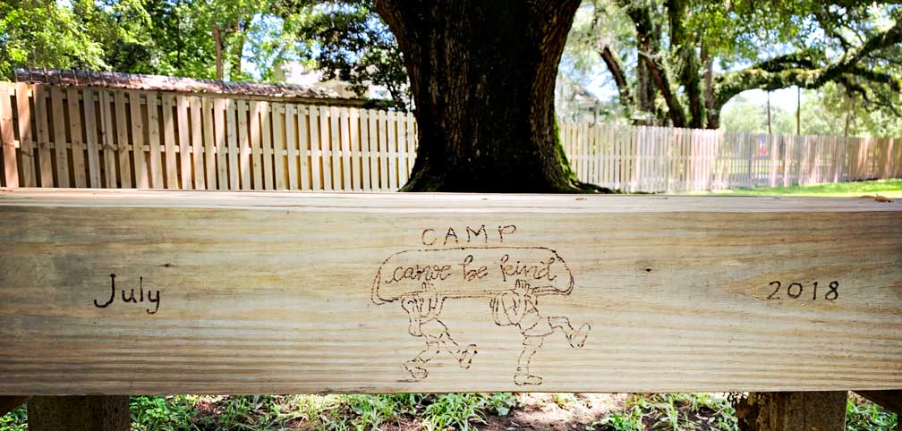 Summer Camp Can-U-Be Kind Bench in Denham Springs